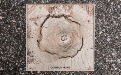 Mars Olympus Mons - Lasercut topographic map - View 2