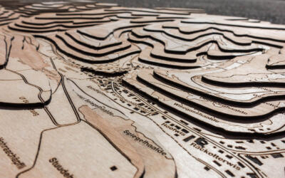 Topographical map of Hemmental, Schaffhausen - Detail of the wood layers